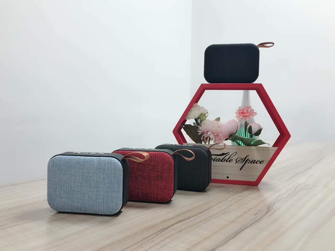 Outdoor Series Speaker by JRT Powerful Sound Box Mini Waterproof Bluetooth Fabric Cover Speaker