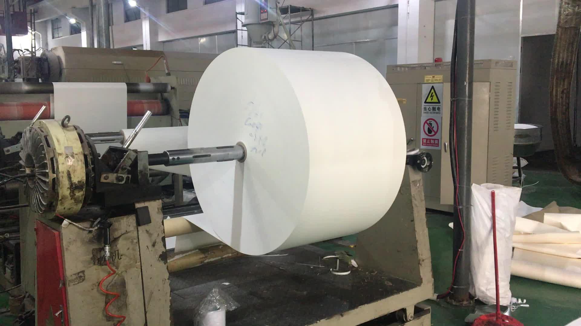 كأس ورقي مقاوم للشحوم عالي الجودة 100 gsm ، مادة خام من ورق رسم مغلف PE في لفة nanning