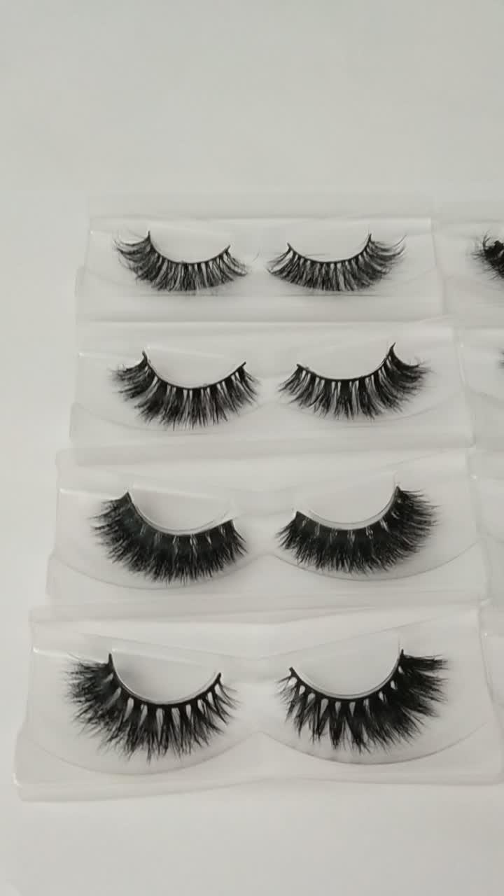 Mink Eyelashes With Private Label Custom Eyelash Paper Packaging100