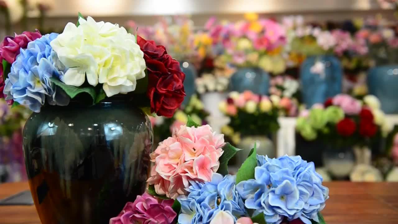 זול מלאכותי משי פרחי קיר חתונה תפאורות לחתונה קישוט