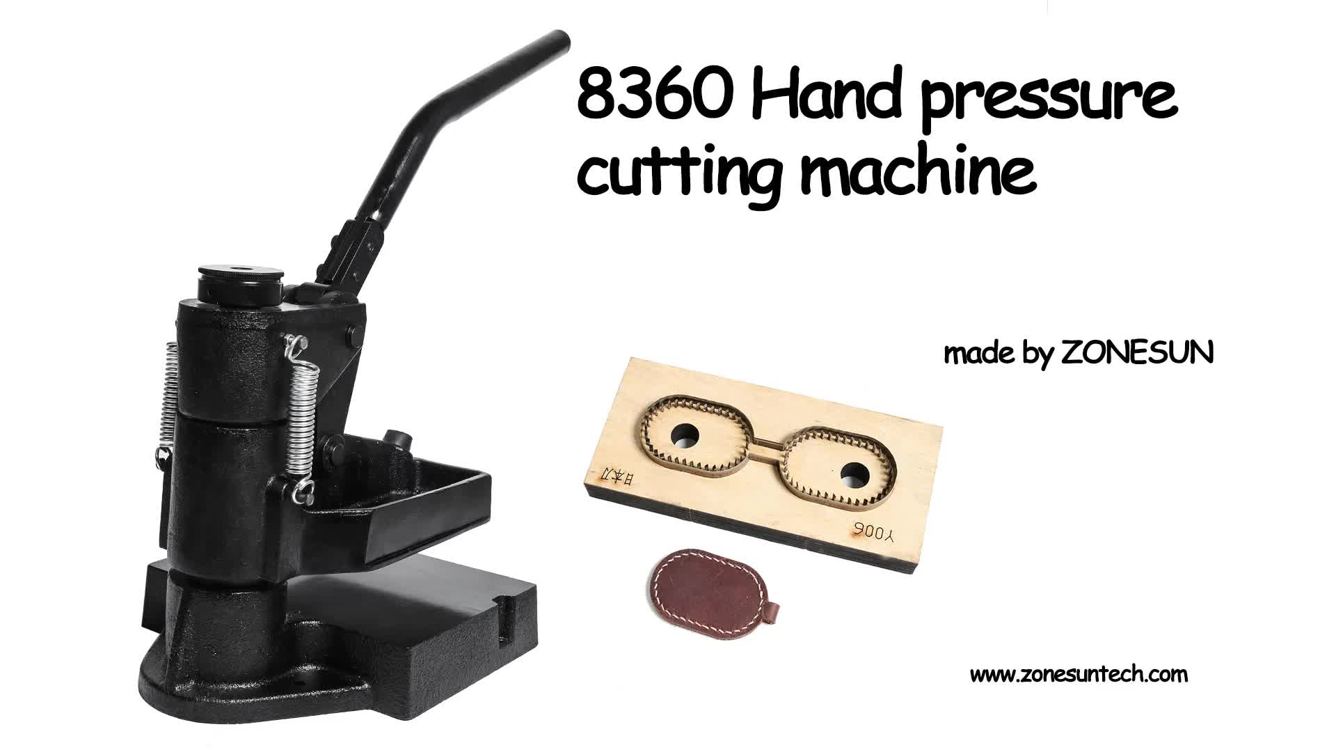 ZONESUN Hand pressure sampling machine Laser knife mold leather stamping machine manual leather mold Die cutting machine