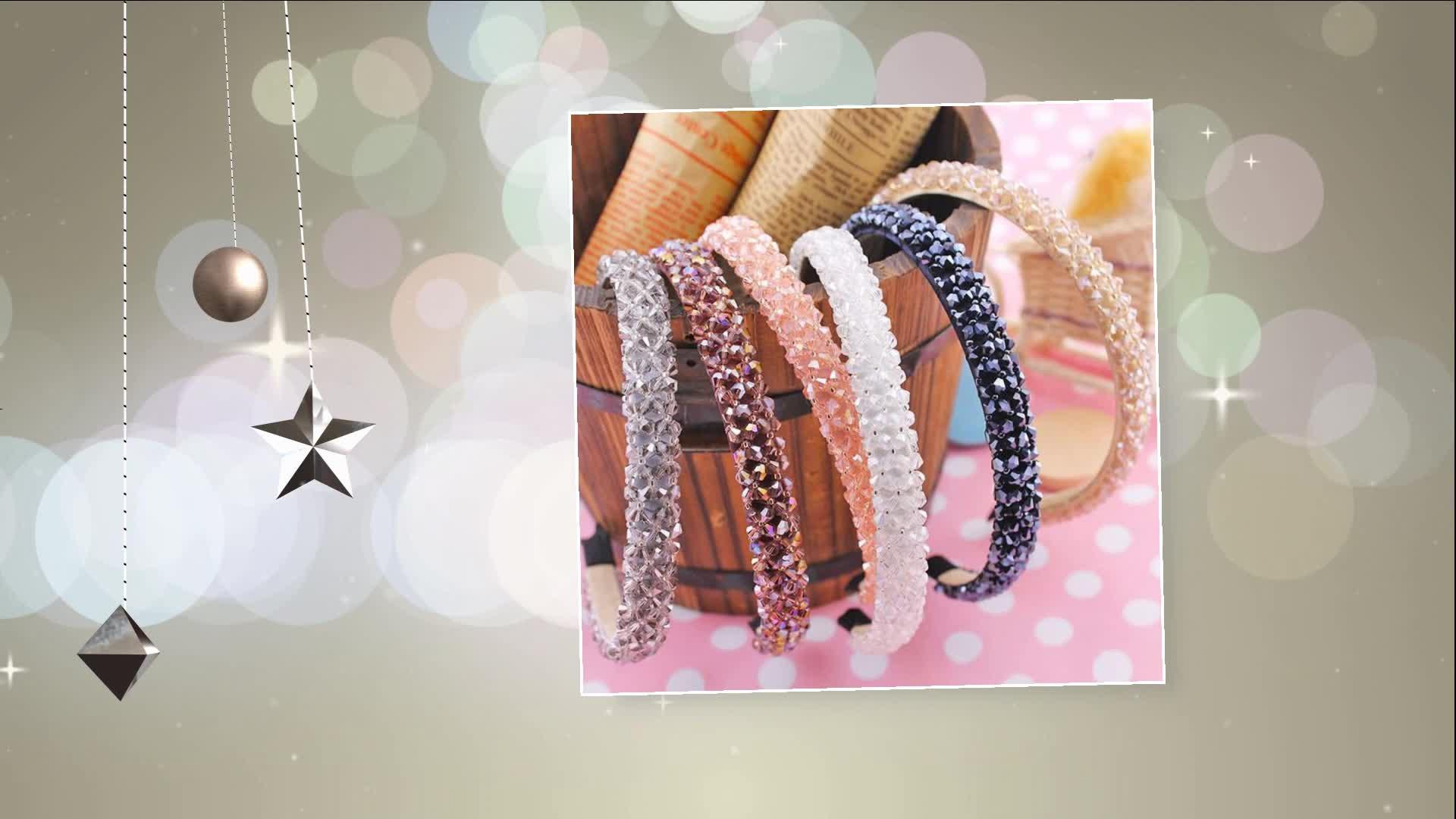 Groothandel vrouwen haar sieraden accessoires fabrikanten china kristallen glazen kralen classic haar hoepel hoofdband