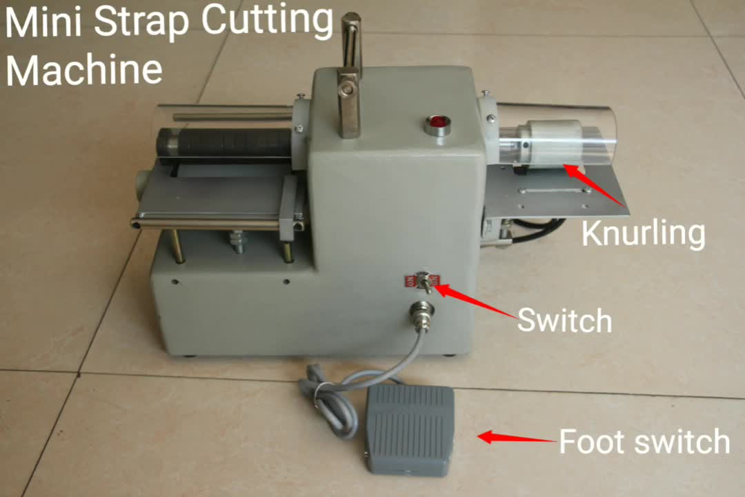 Mini-size band knife foam cutting machine for leather and fiber