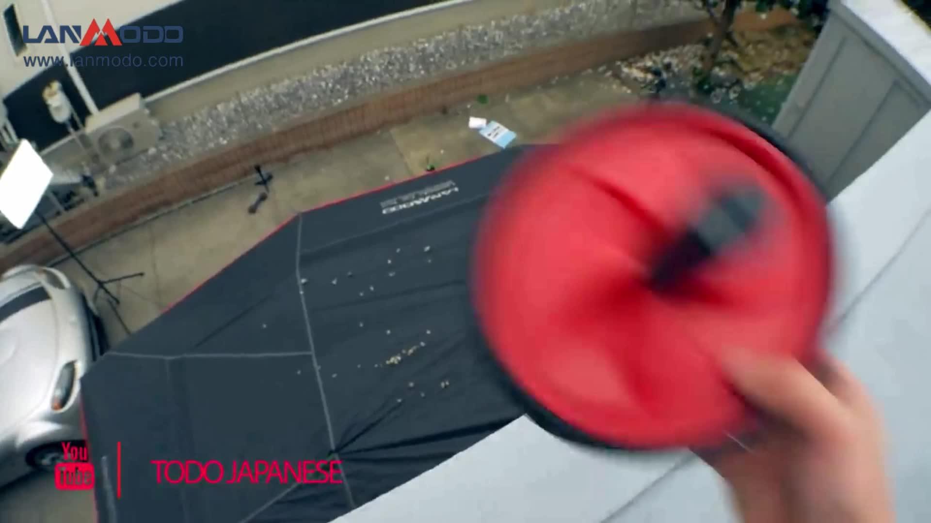 Lanmodo 1st generatie Novelty Opvouwbaar Voorruit Zonnescherm Automatische Auto Paraplu Zonnescherm