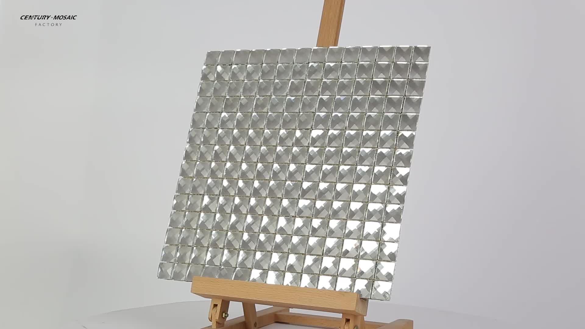 Trendy Backsplash Crystal Glass Mirror Mosaic Tiles