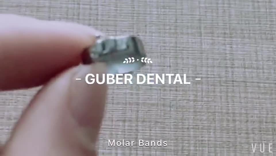 *Dental materials orthodontics products customized laser marking ortodoncia molar bands cleats sheath welding dental molar band