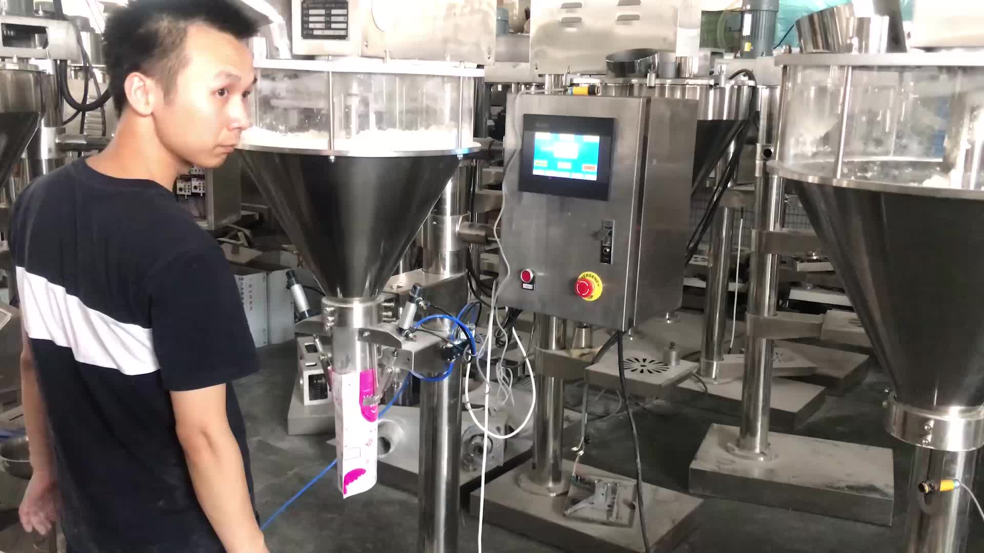 Semi Automatic Auger Powder Filling Machine with Clamp and Hold Device