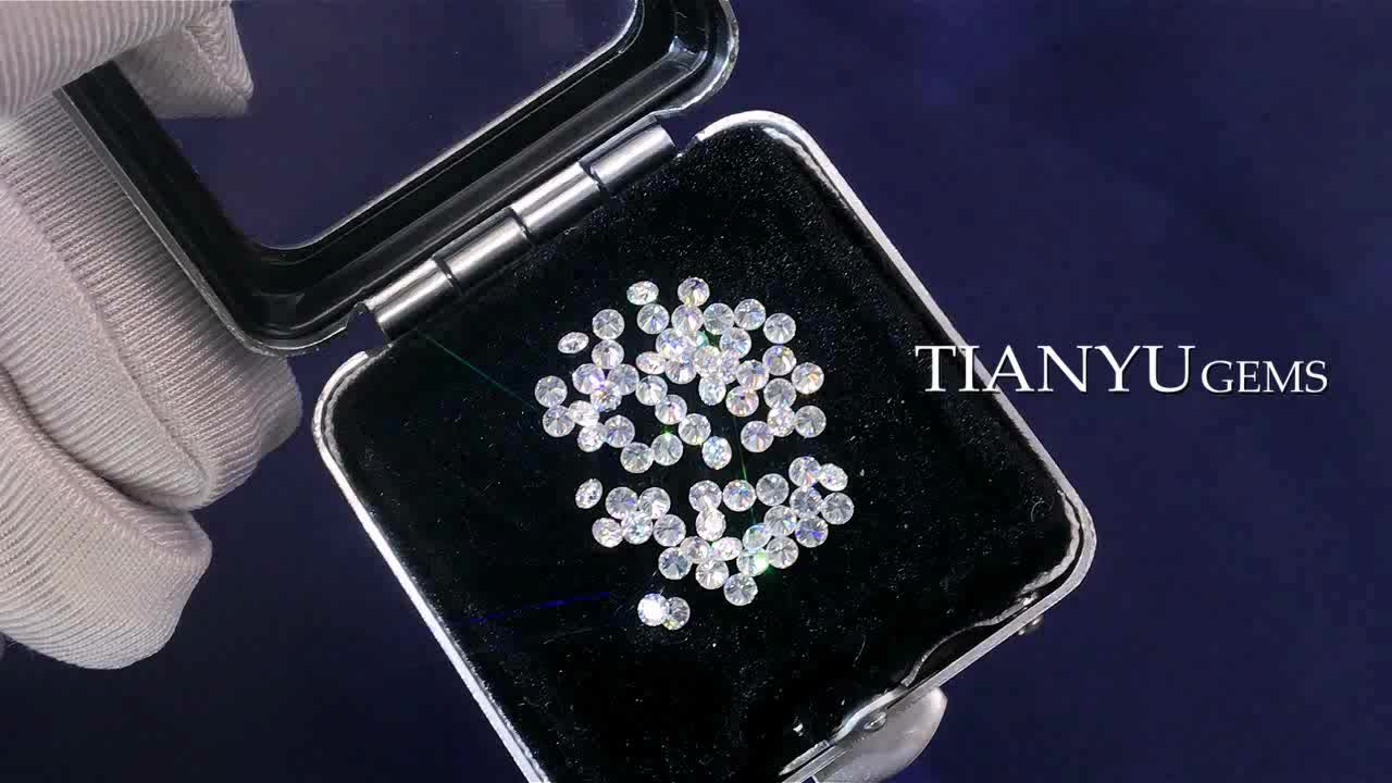 Tianyu gems Synthetic Diamond 1.4 to 2MM D E F Color SI Clarity CVD/ HPHT Polished Loose Melee White Round Cut Diamonds