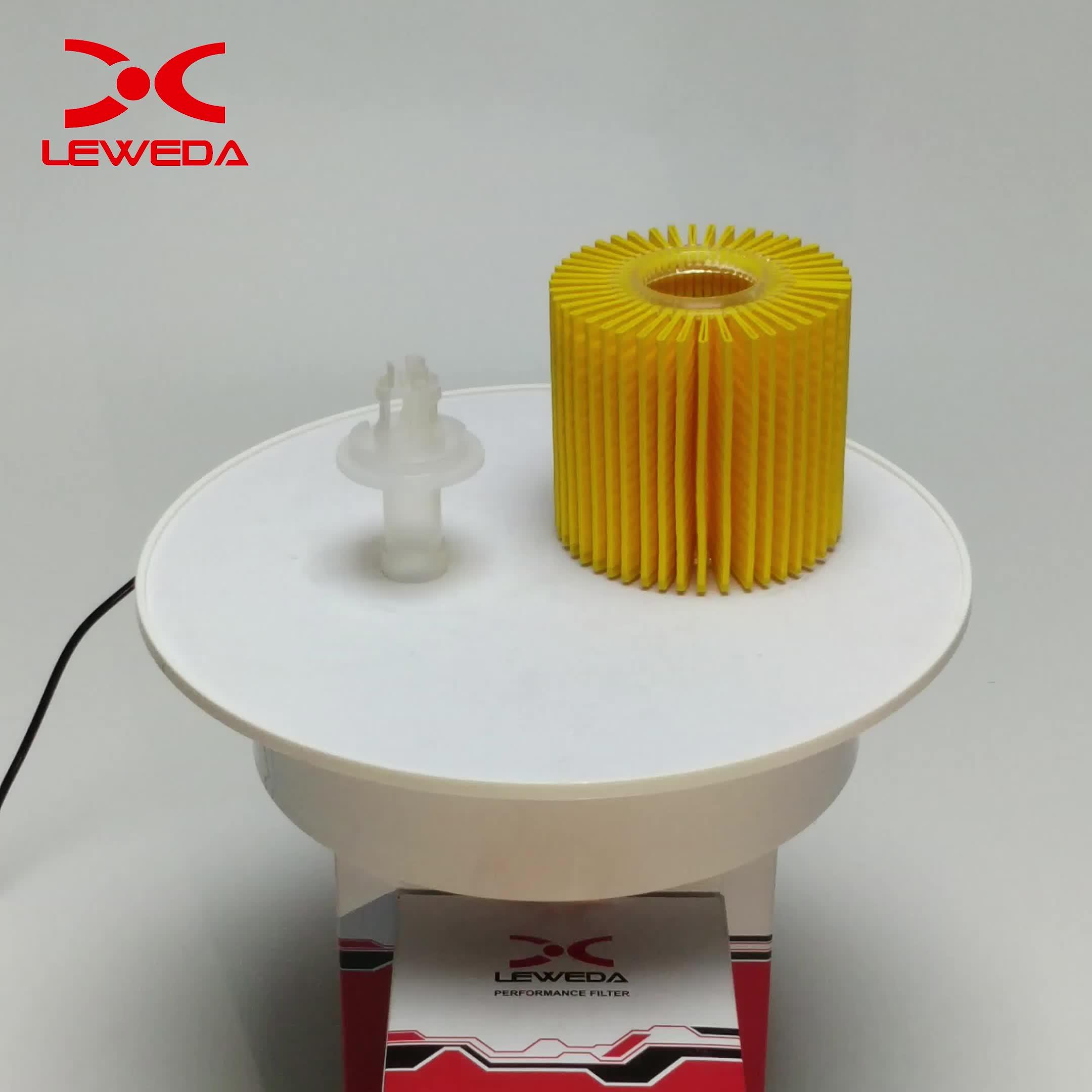 Leweda marca De Alto desempenho do motor do carro do filtro de óleo 04152-31090 para EVORA