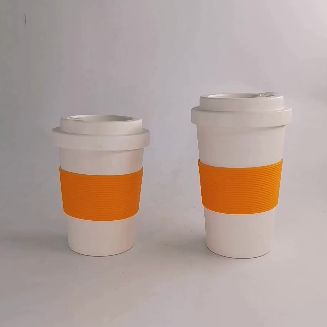 Plastic Products Bamboo Fiber Material Cup Printed Bamboo Fiber Coffee Mugs