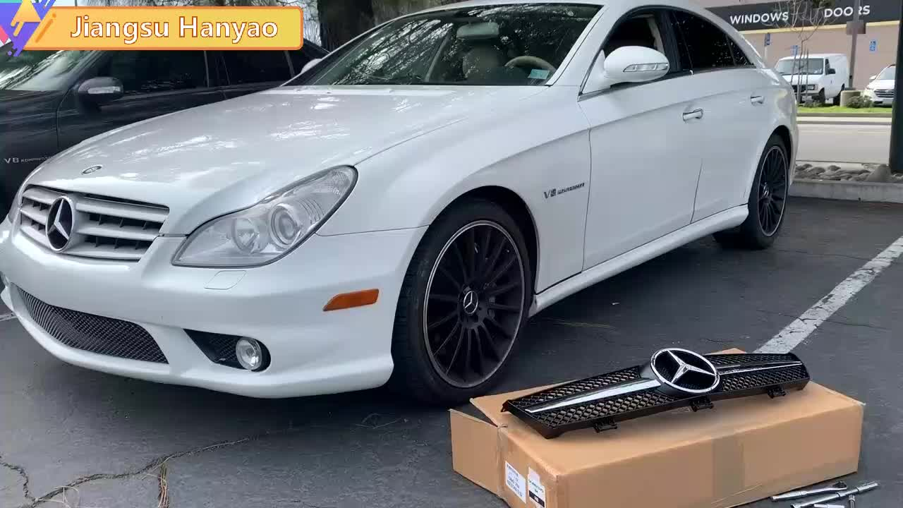 High Quality ABS New Hood Protection Auto Accessories Front Grille For B-enz CLS W218 GT