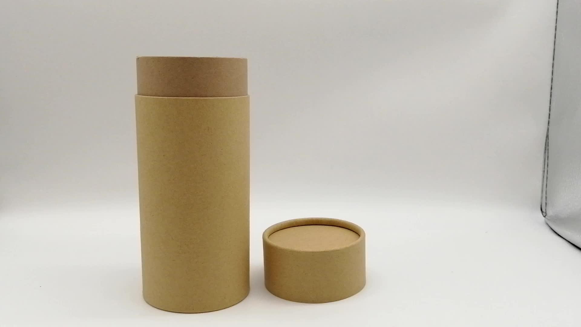 Yüksek Kalite Özel Baskılı Tasarım Çevre Dostu Karton Silindir Yuvarlak Hediye Kağıt Kutuları Ambalaj
