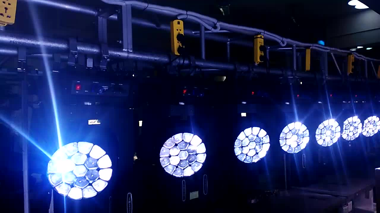 Stagelight dmx color led moving head wash 19x15w bee eye beam led moving light