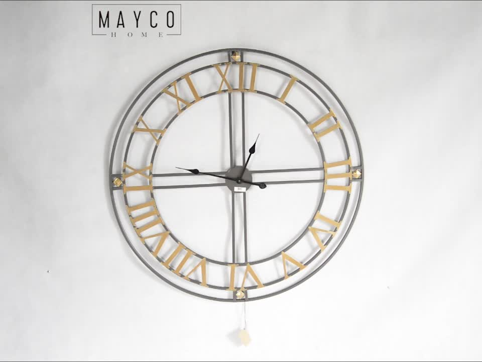 Mayco Home Decor Vintage Wrought Iron Digital Wall Hanging Clocks