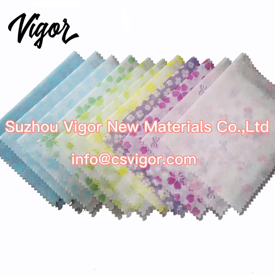 Digital cartoon printed fabric 1mm 2mm 3mm colored non woven fabric polyester felt
