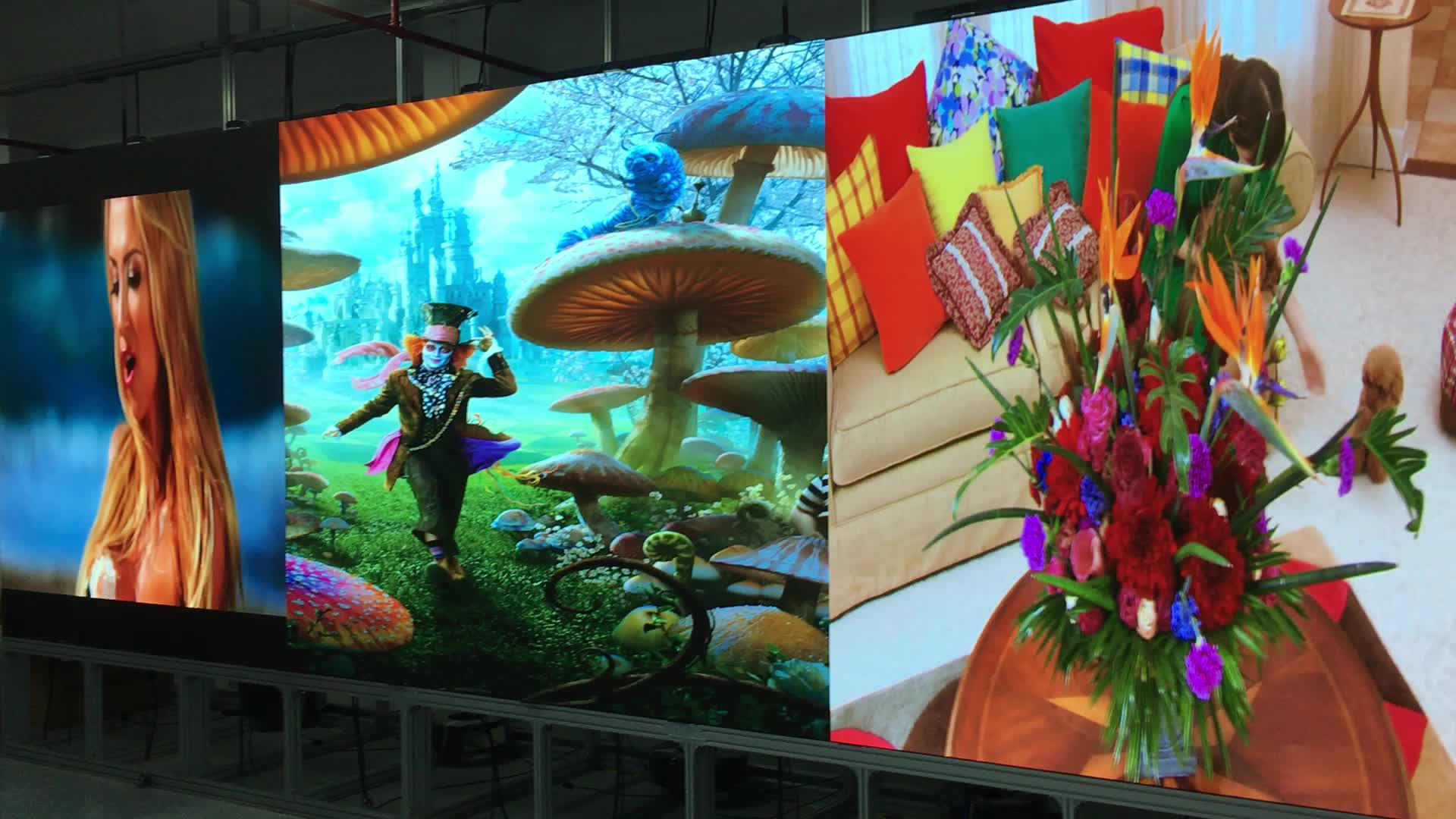High Resolution indoor P1.27 P1.58 P1.9 led advertising tv display/ led screen