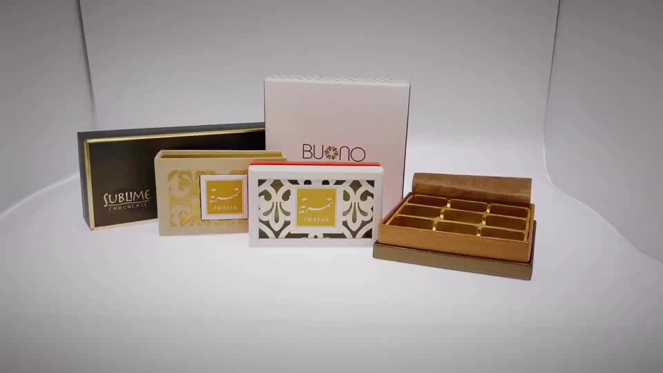 Cheap custom eco-friendly paper candy macaron gift  box packaging with plastic tray lid base chocolate boxes packaging