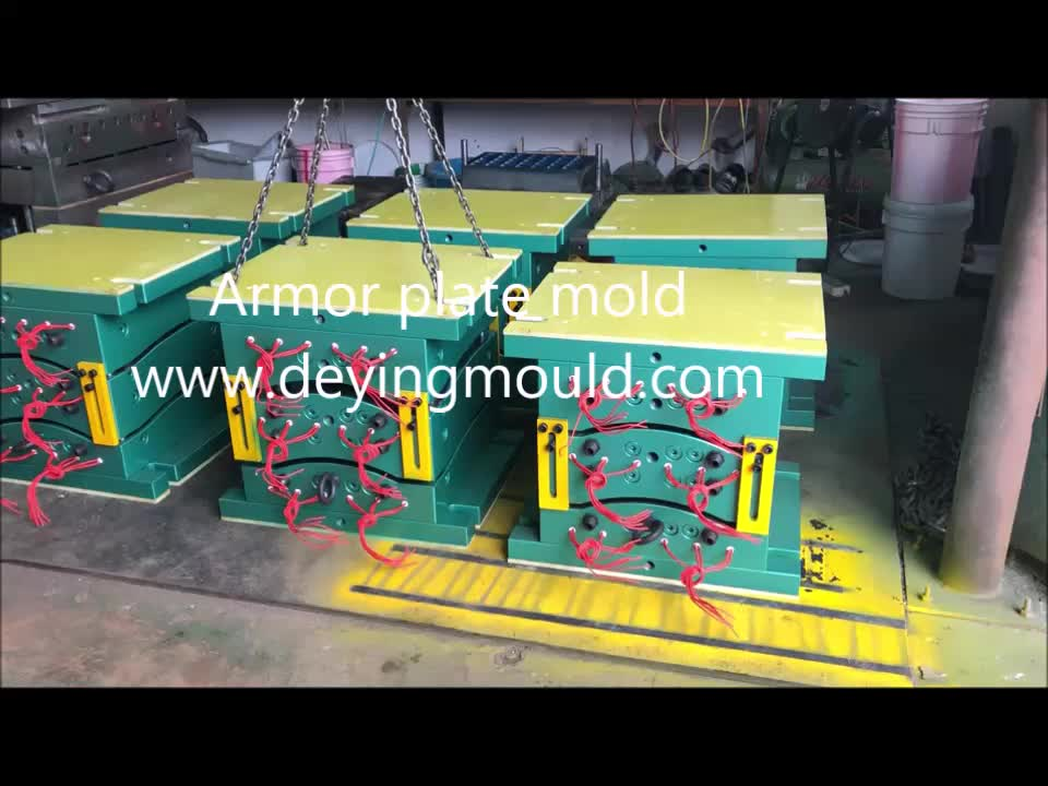 Single/Double Curved Army Tactical Bulletproof Panel mould by professional compression mold factory