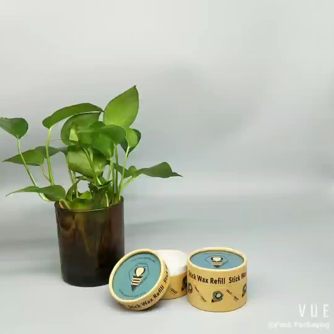 eco friendly deodorant containers push up paper tubes paper jar