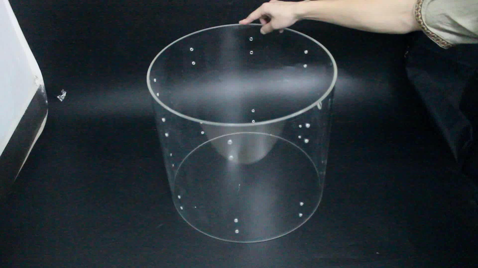 NAXILAI BigSize แกะสลักพลาสติก 600 มม. หลอดอะคริลิคอัดคริลิคหลอด 4 นิ้วเปลือกขาย
