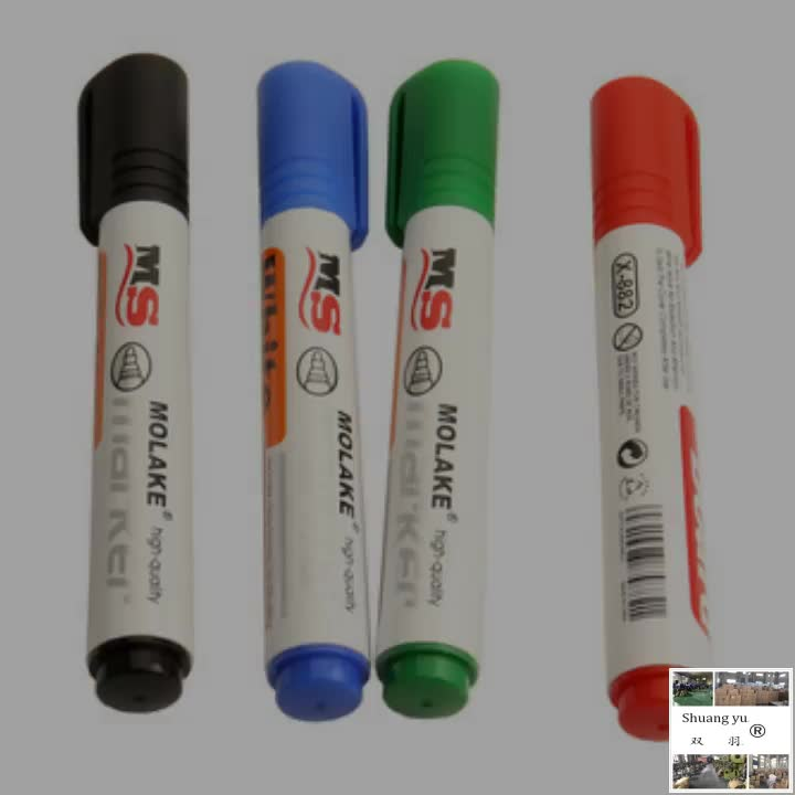 High Durability OEM 4pcs/set Easy Dry Erase Marker Whiteboard Pen For Office Stationery Supplies