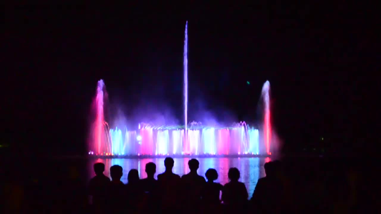 High Spray Music Dancing Fountain With Underwater Led Lights