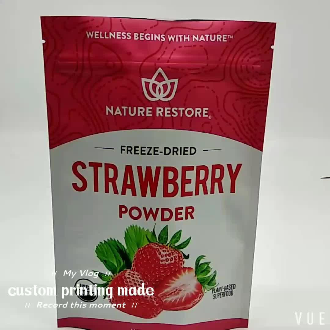 再封可能なプラスチックマットスタンドアップポーチスナック包装袋食品包装深センからナット用