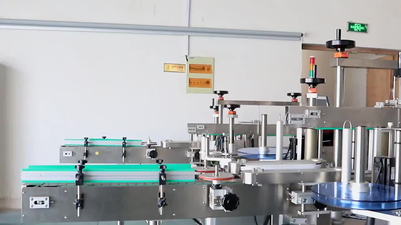 Adhesive Front And Back Labeling Machine For Square Bottle Double Sides