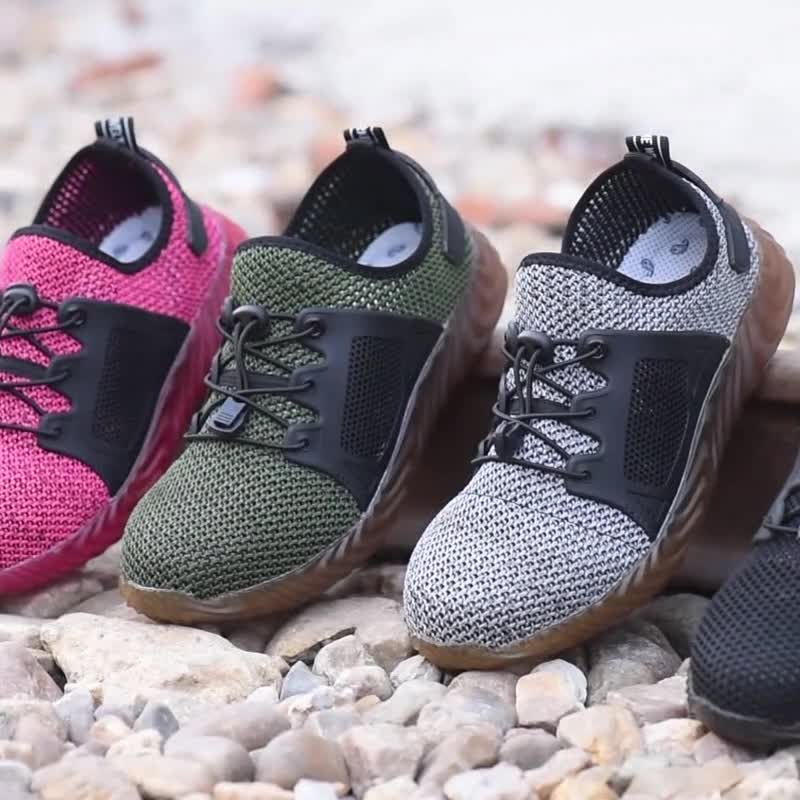 Wholesale Breathable Steel toe Safety Shoes for Men and Women