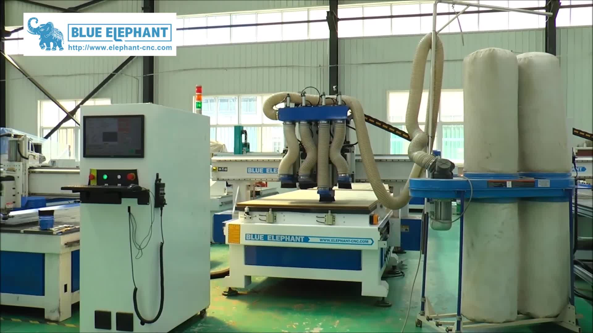 CNC Router 1325 4 Spindles Automatic Wooden Furniture Making Machine