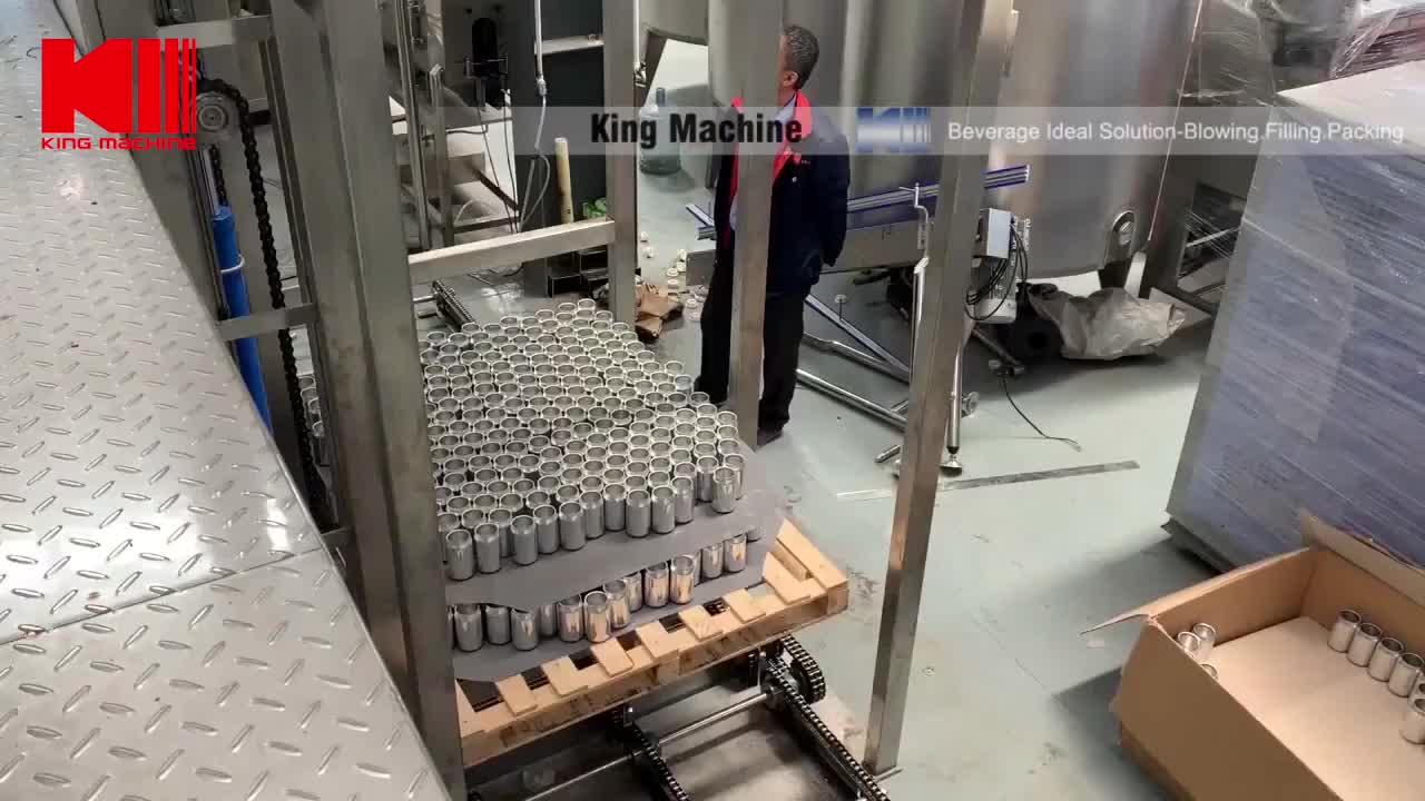Complete craft beer can filling line for craft beer canning