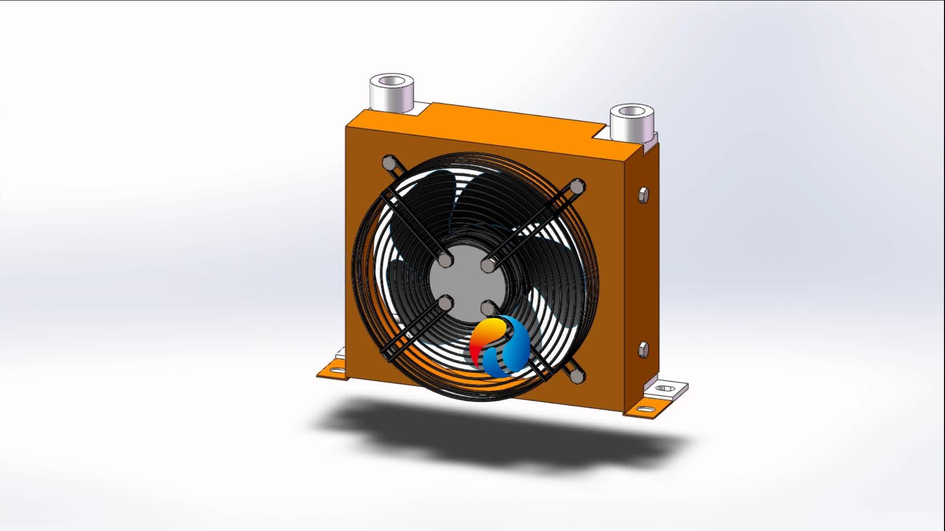 RC-153 Tube-Fin Conditioner Aluminum Oil Cooler Heat Exchanger Air Condenser