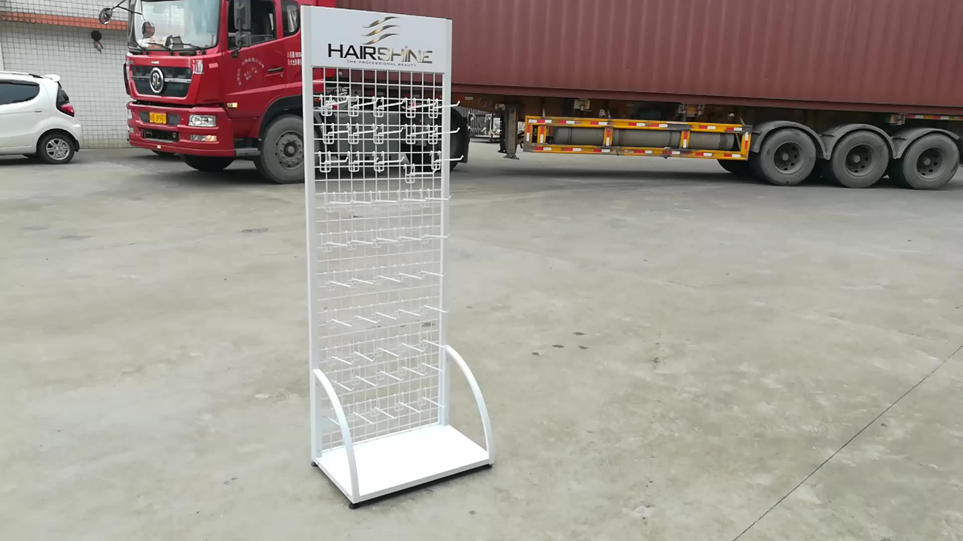 wholesale metal wire mesh basket hook selling merchandiser display rack stand for hanging items