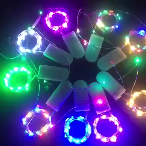 Cr2032 Decor Festival 1M 10Leds/2M 20Leds/ 3M 30Leds Mini Micro Copper Wire Light Battery Operated Led Strip String Fairy Lights