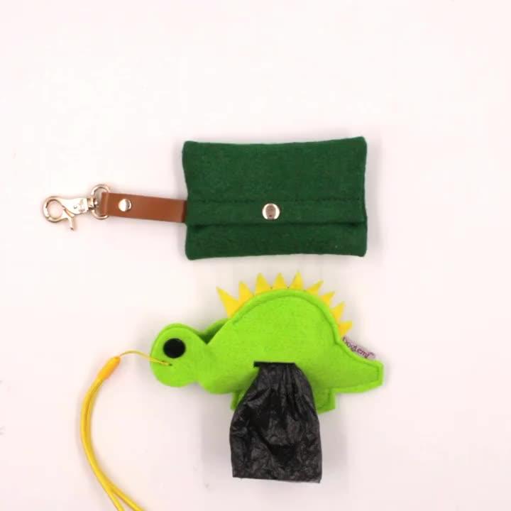 Amazon Best Selling Custom Eco-Vriendelijke Afdrukken Patroon Walking Dog Kak Tas Houder