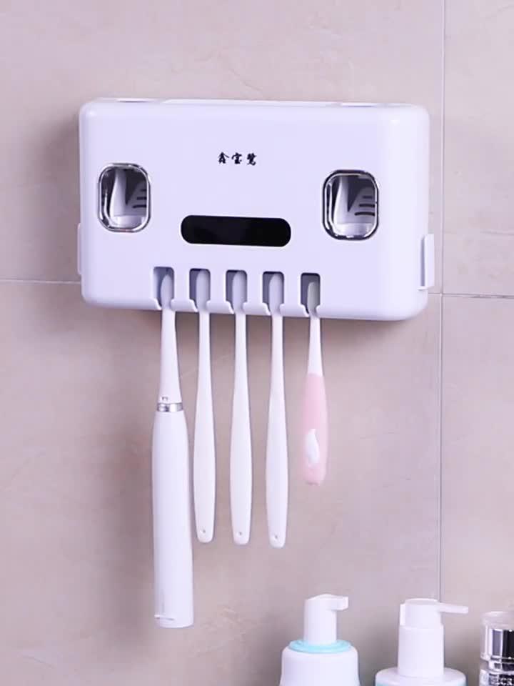 Wandmontage familie zorg badkamer Elektrische tandenborstel houder set voor kids