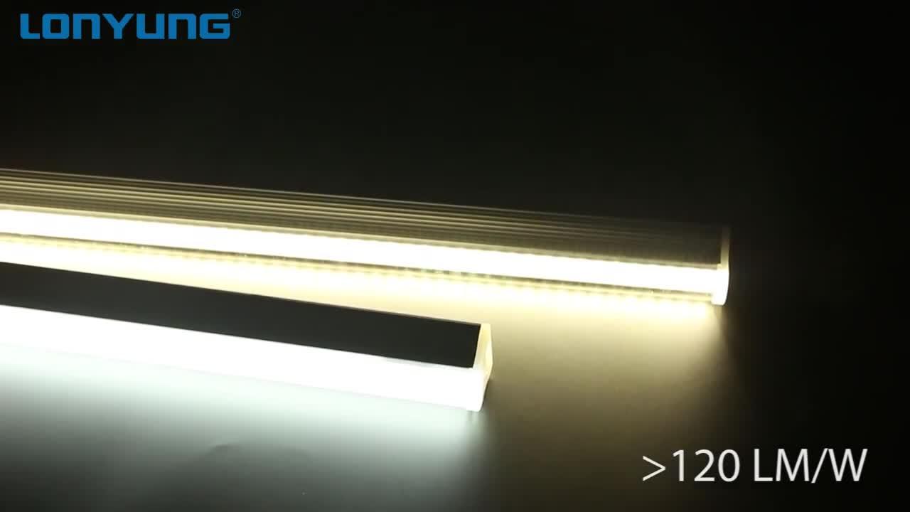 CE ETL Phê Duyệt 0.9 M LED Ống T8 Ánh Sáng Tích Hợp PC Bìa + Nhôm IP44 Tản Nhiệt Dẫn Ánh Sáng 1200 Mm 18W Cho Nhà Kho Chiếu Sáng