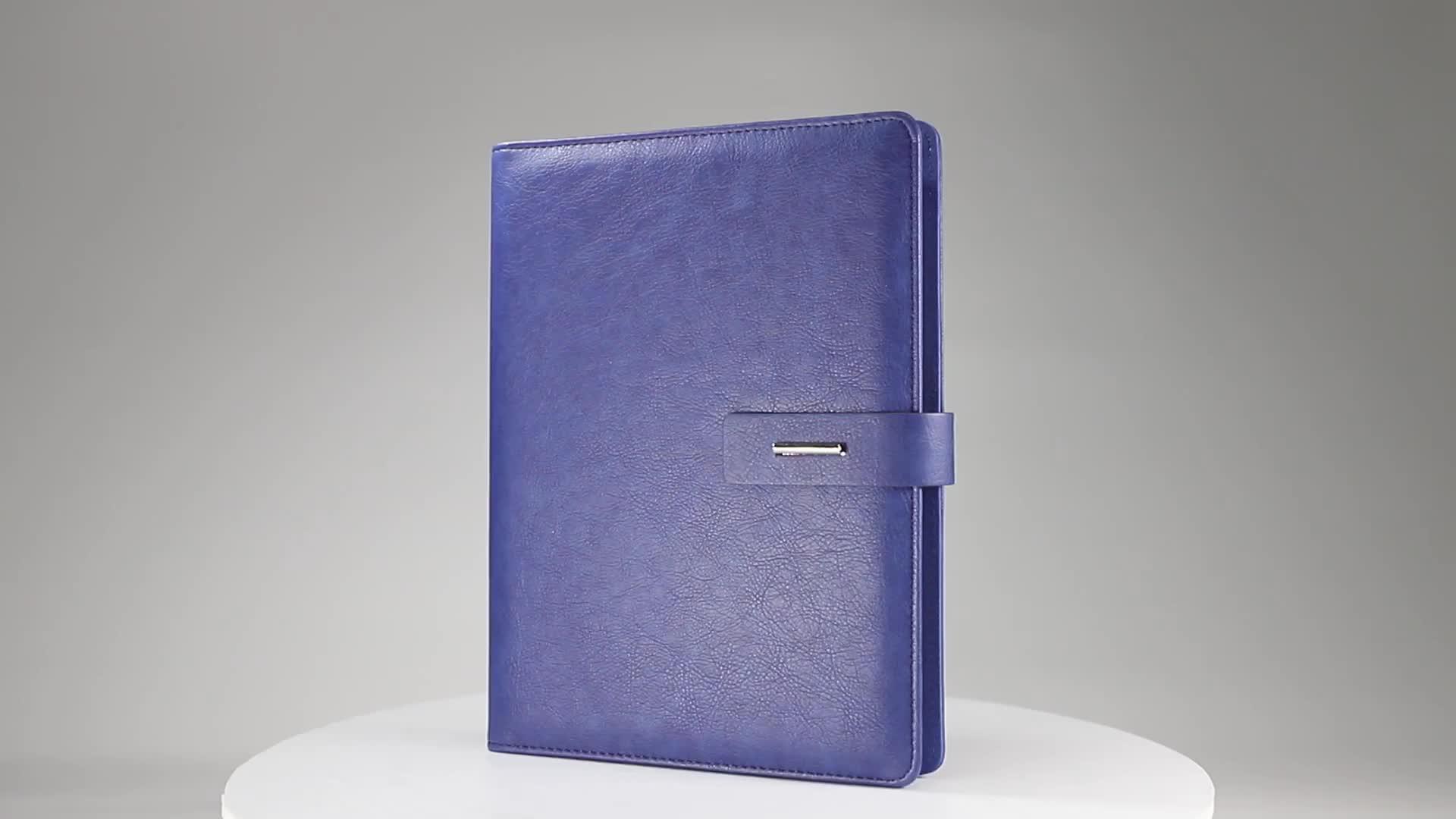 Agenda leather 2019 2020 gift set large calendar loose leaf planner organizer diary notebook odm