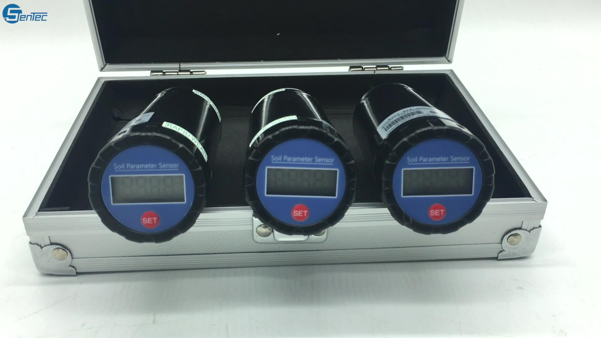 Intelligent LCD Display Digital 1 And 3 Way Probe Soil EC Nutrient Salinity NPK Sensor