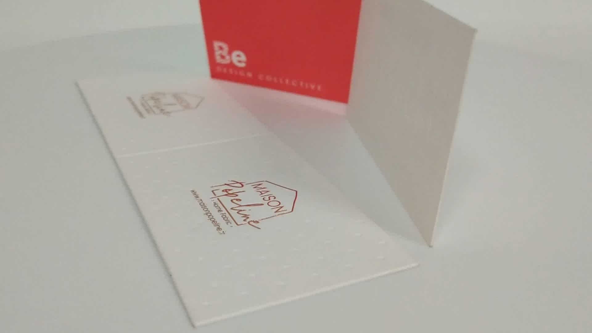 Cartão de visita do papel de impressão da folha de ouro da cor da borda