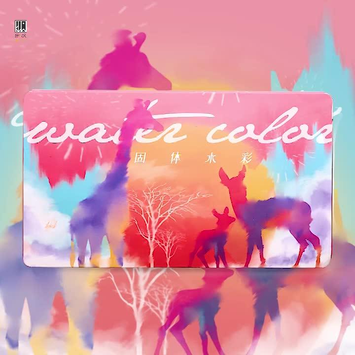 Professionelle 12/18/24/36 farben mischen palette leinwand pinsel künstler tasche metallic neon feste aquarell farbe