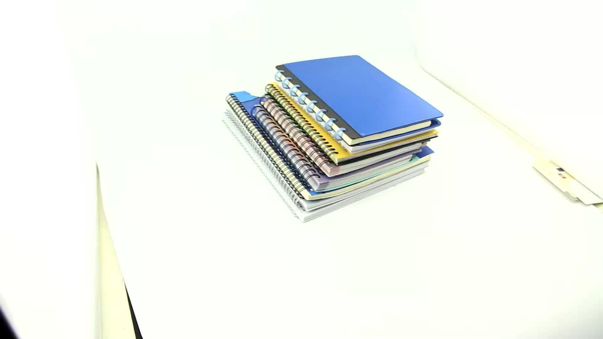 Cahier à spirale avec stylo Personnalisé A4 A6 A5 recyclé en cuir PU pointillé papier reliure vierge agenda journal d'impression