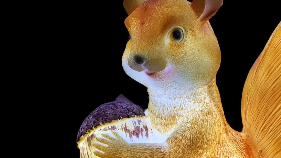 Оптовая продажа Открытый 3d одна деталь маленький аниме смолы стекловолокна статуя фермы животные белка освещение