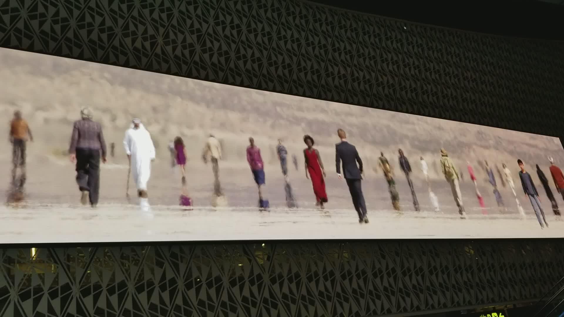 Ultradünne transparente Vorhang- oder Streifen-LED-Anzeige P8 im Vollfarb-SMD-Außenwerbung