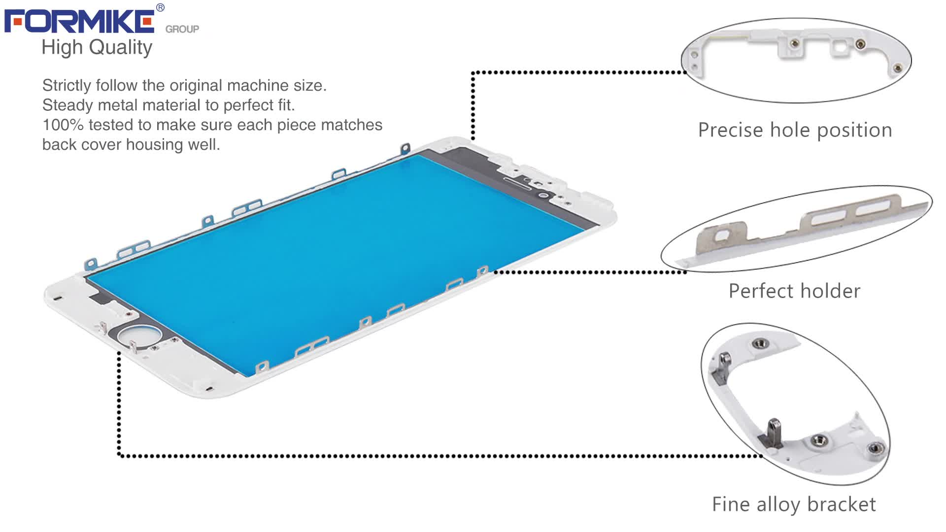 Formike OEM Mobile Phone LCD Outer Glass Lens For iPhone 6