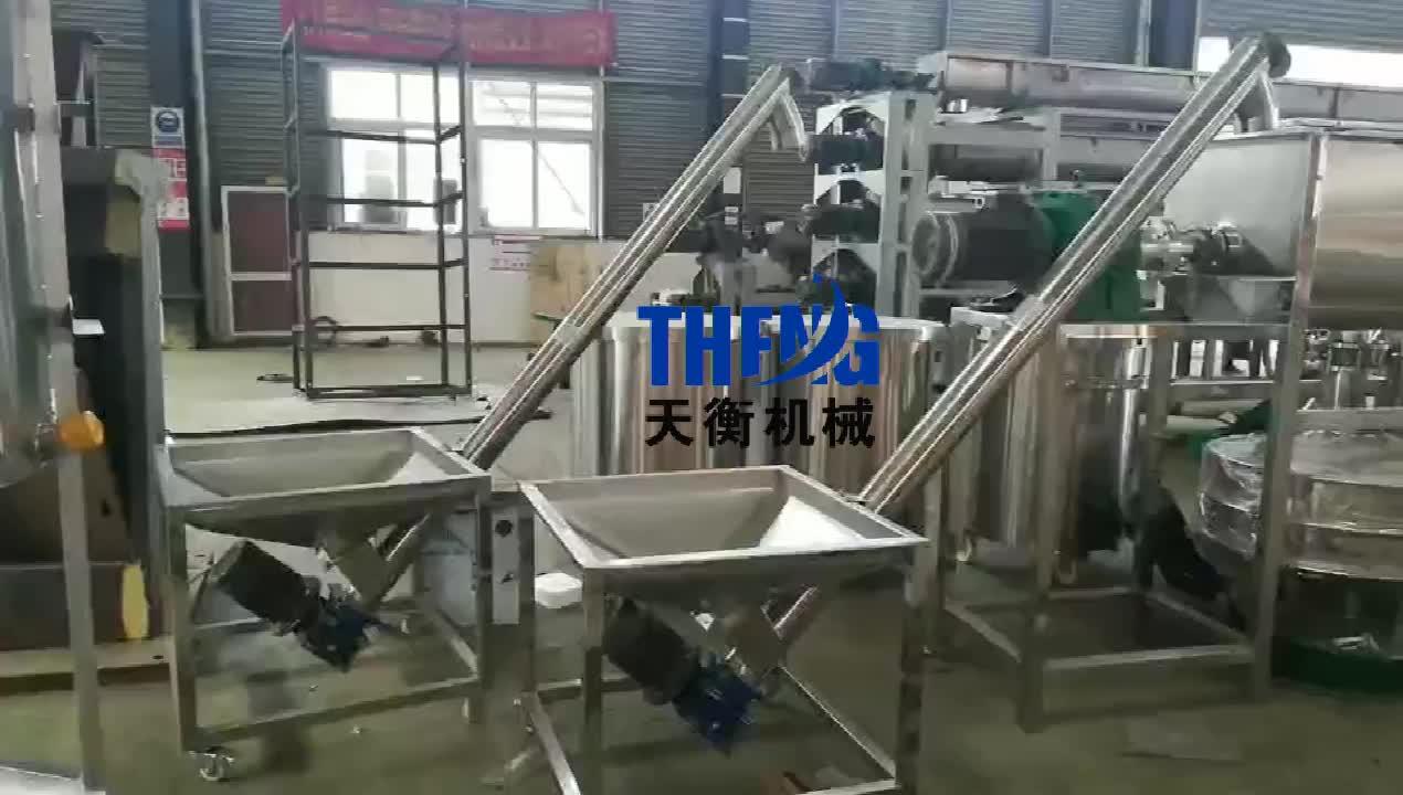 Pulver mehl milch geneigt schraube förder/schneckenförderer