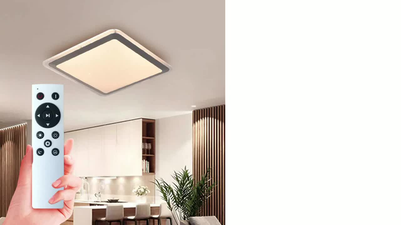 Hot Sale Fixtures Remote Control Hote square Office home hotel 24V Led Ceiling Light Dimmable