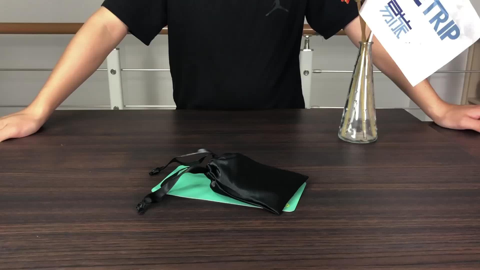पदोन्नति निजी लेबल Drawstring बैग पोर्टेबल यात्रा लक्जरी समायोज्य नींद रेशम साटन आँख का मुखौटा