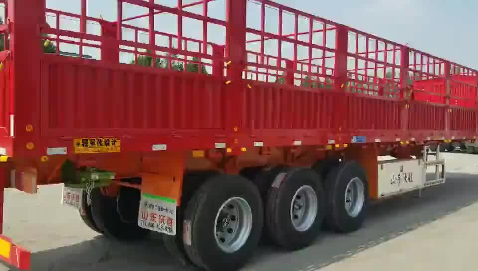 Trasporto di animali recinzione semi rimorchio 3 asse cargo rimorchio