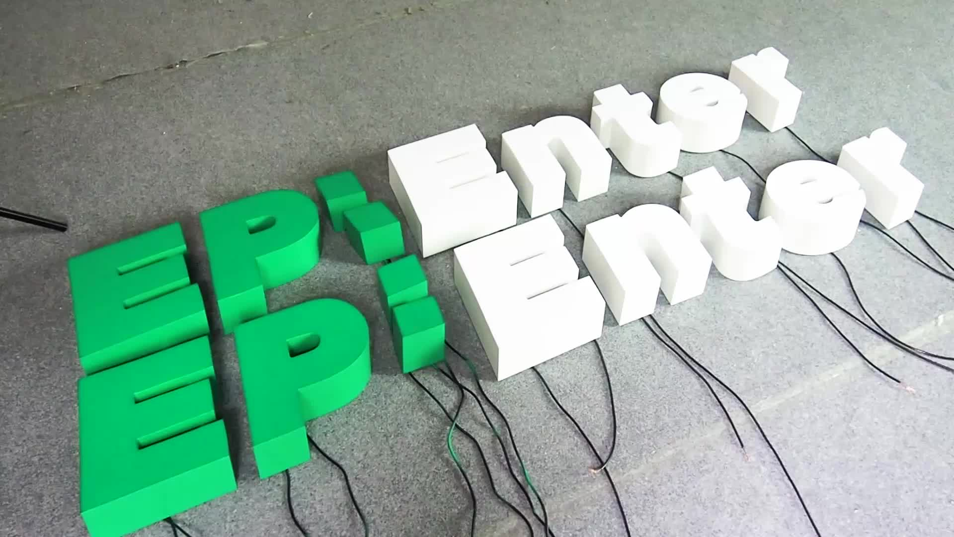 Customized 3d luminous acrylic letter external illuminated building signs led channel letters for shop